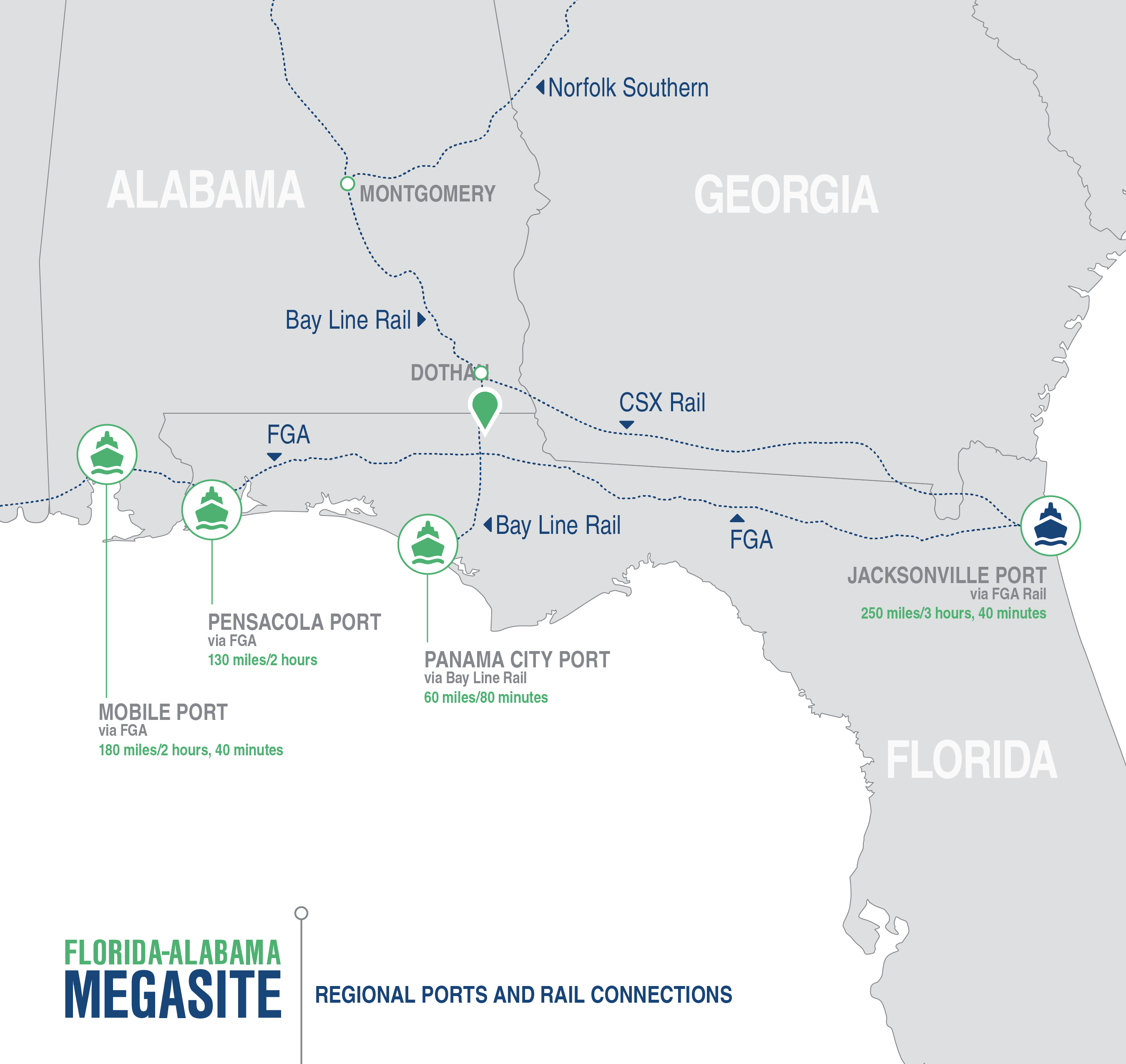 Florida Alabama Mega Site Maps