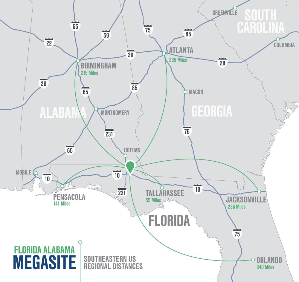 Florida–Alabama Mega-Site: Maps